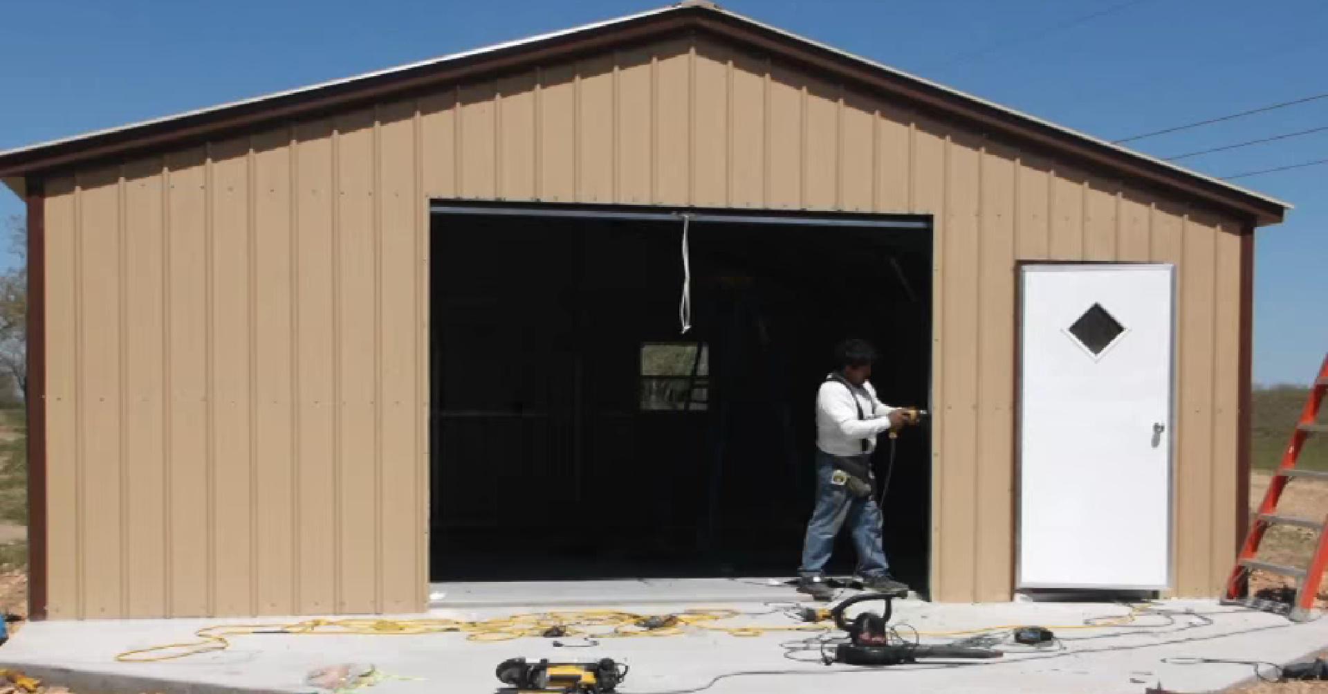 Как сделать каркасный гараж фото